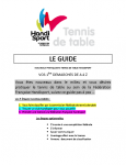 Guide du tennis de table handisport